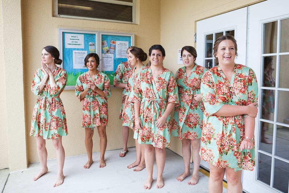 This is seriously one of my favorite photos of my bridesmaids. As you can see, it was a pretty happy day for us all. :)