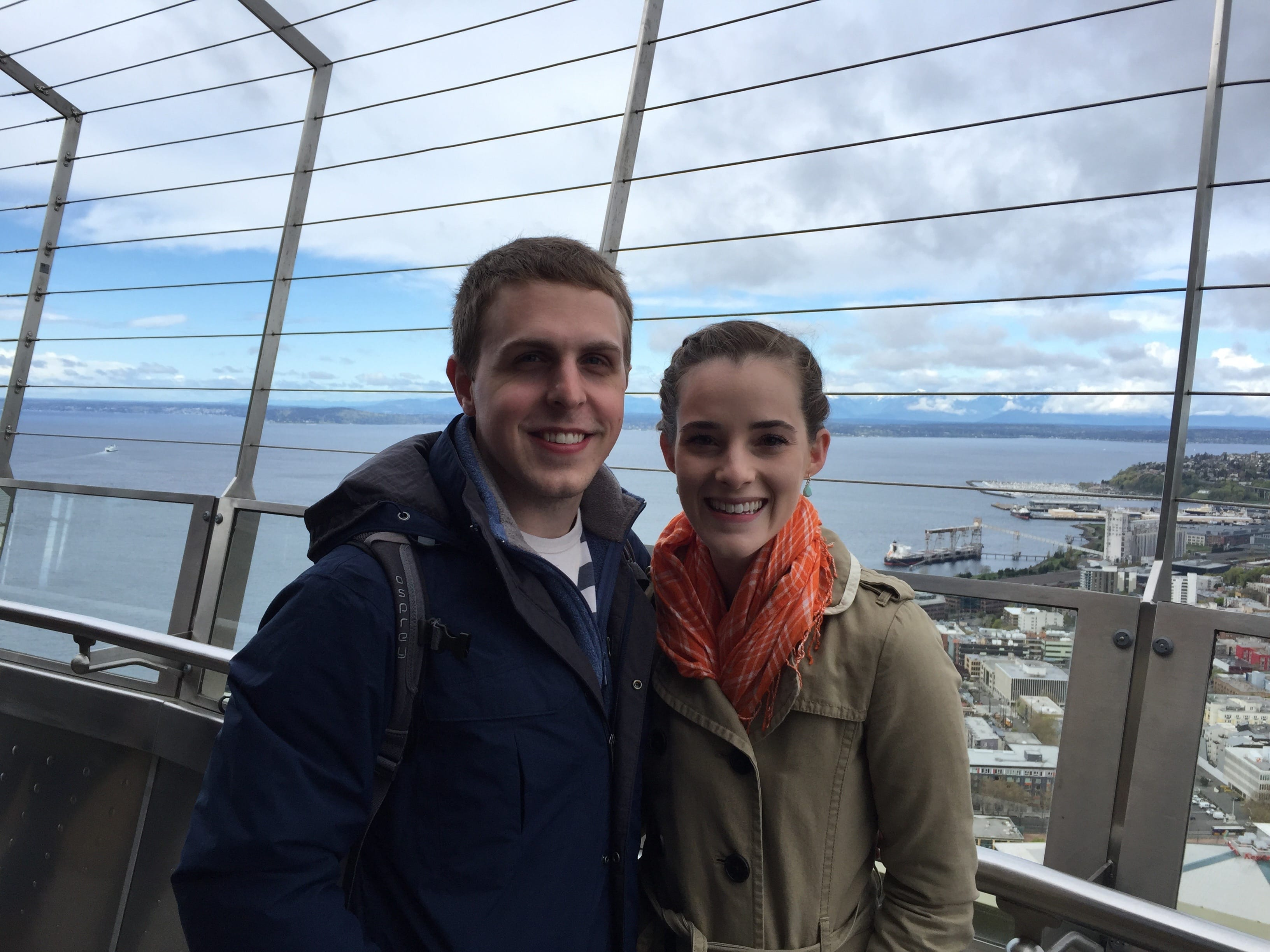 We went to the top of the Space Needle and took in the pretty sweet views from the top.