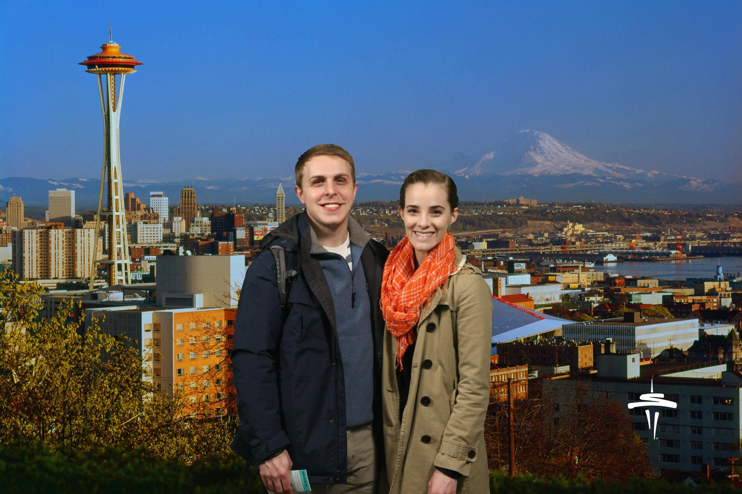 And here's our official green screen Space Needle photo. haha.