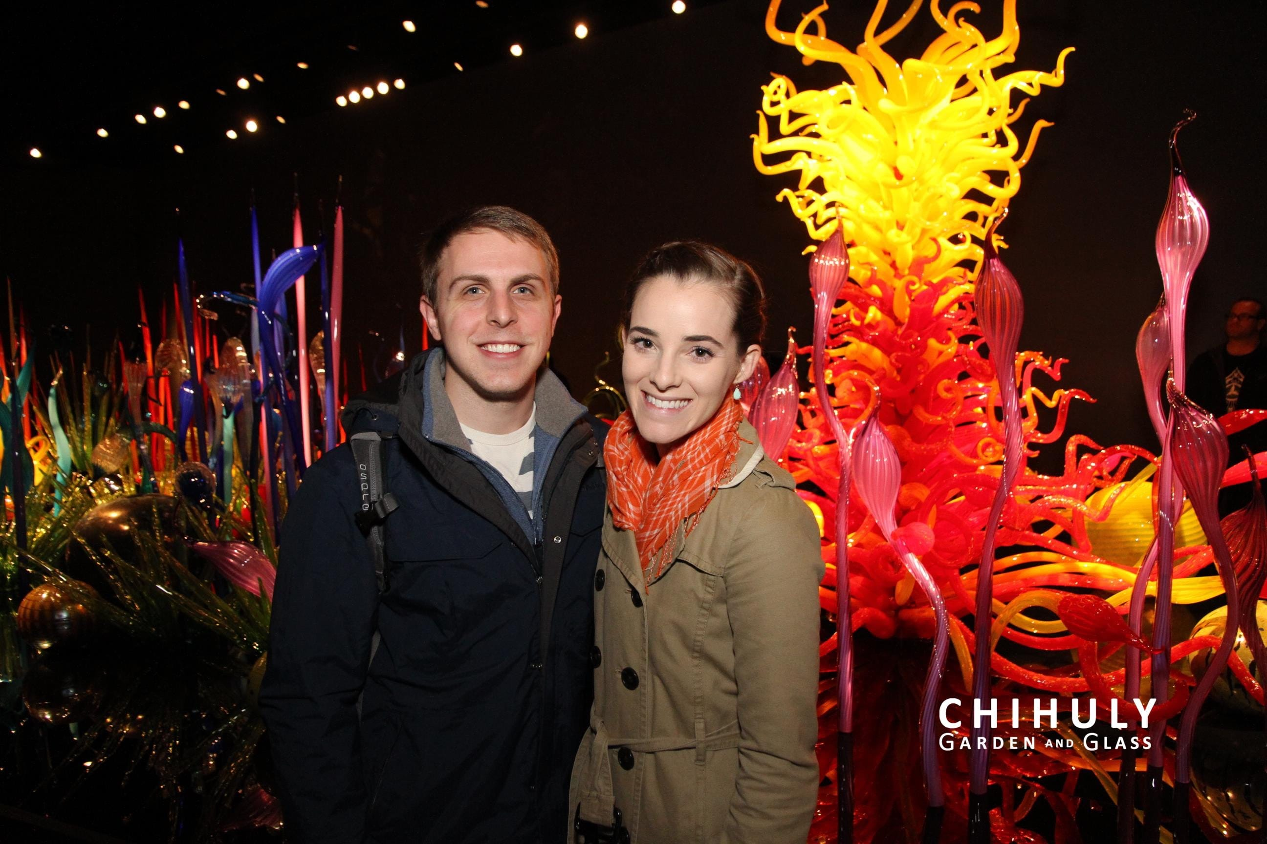 At the Chihuly Garden & Glass, they give you these super cheesy awesome photos for free. :)