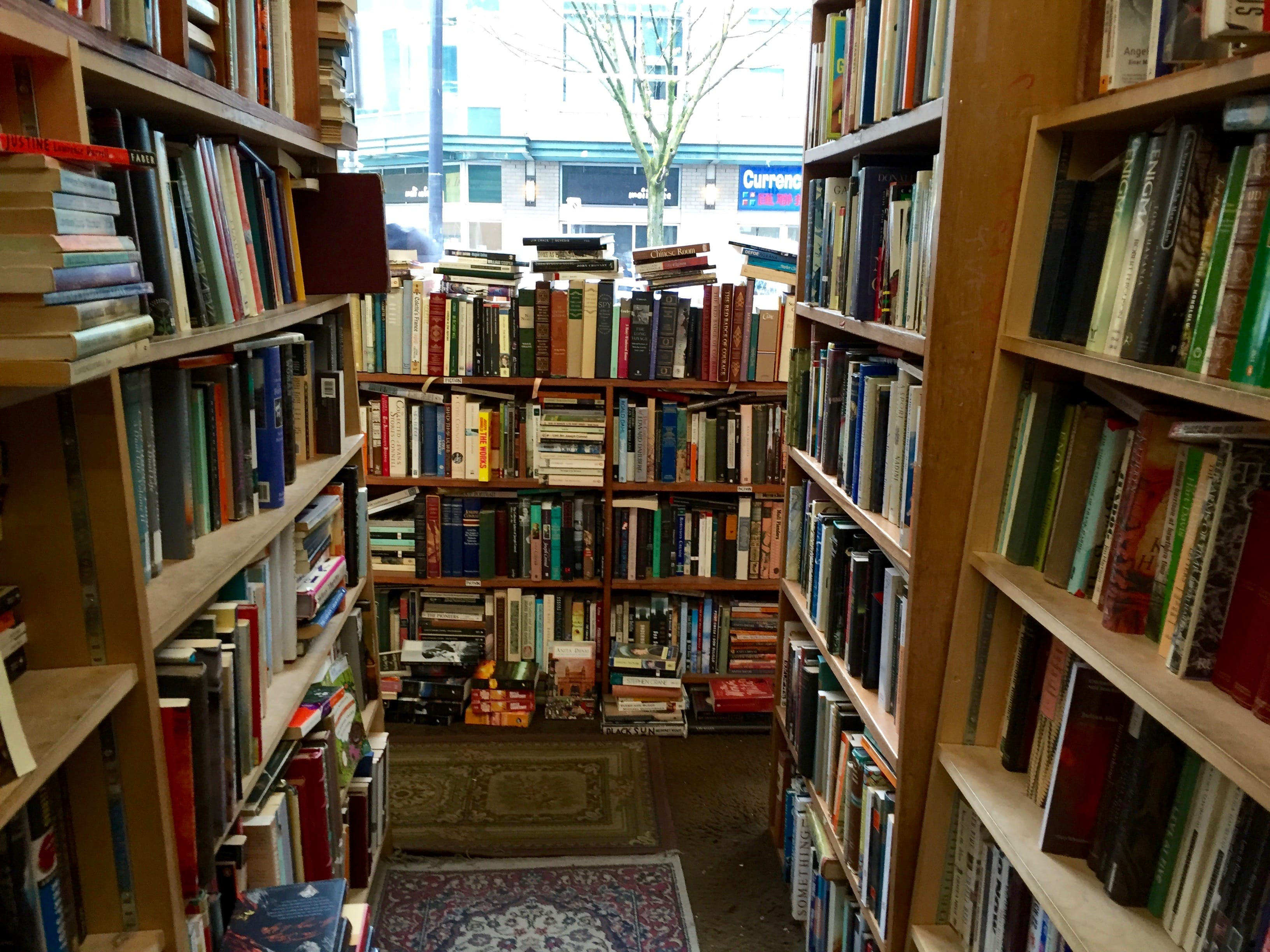 This is the really cool bookstore called MacLeod's that we found near our hotel.