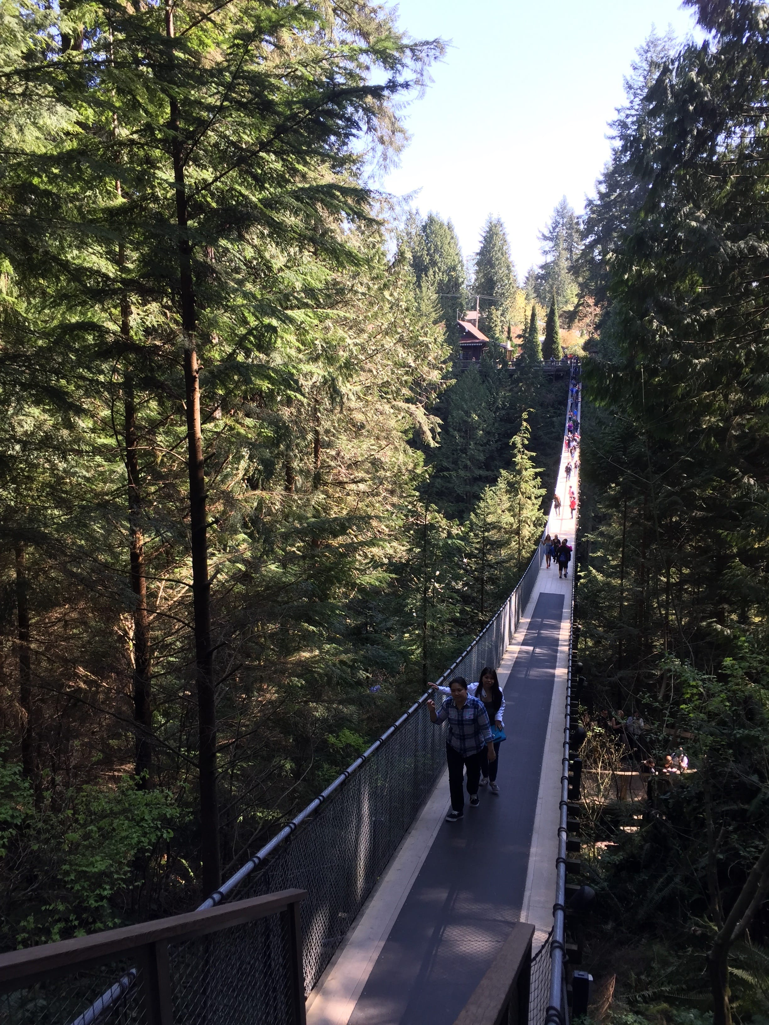 The Capilano Suspension Bridge may be the biggest fear of every person who has a fear of heights, but it's a pretty cool place to experience. Basically, you go through a series of suspension bridges in the trees of a rainforest.