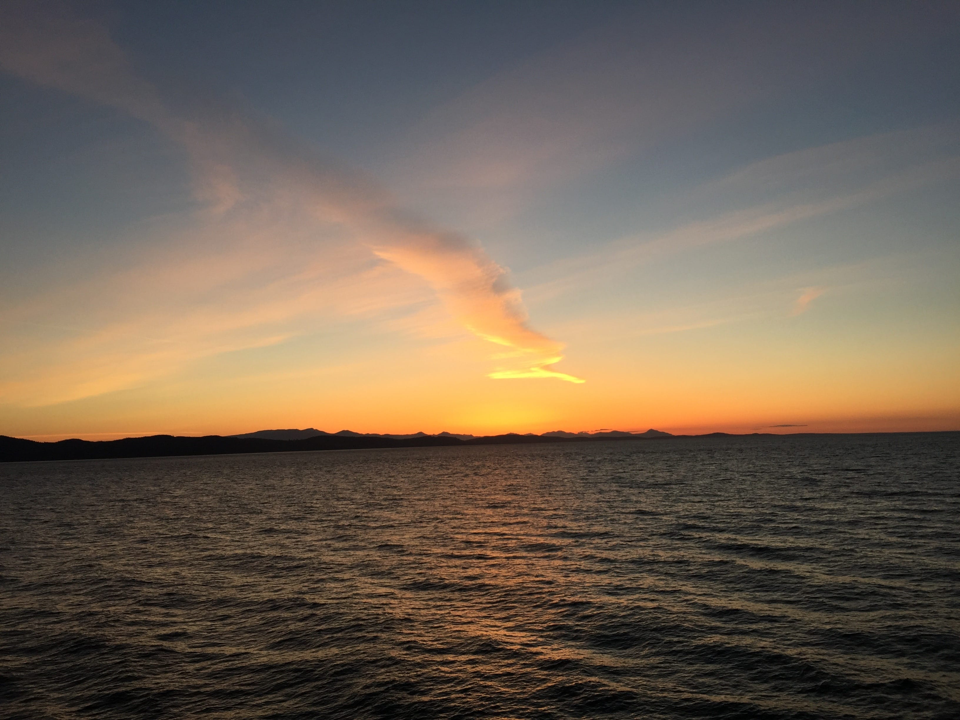 Sunset while on the ferry back to Vancouver from Victoria.