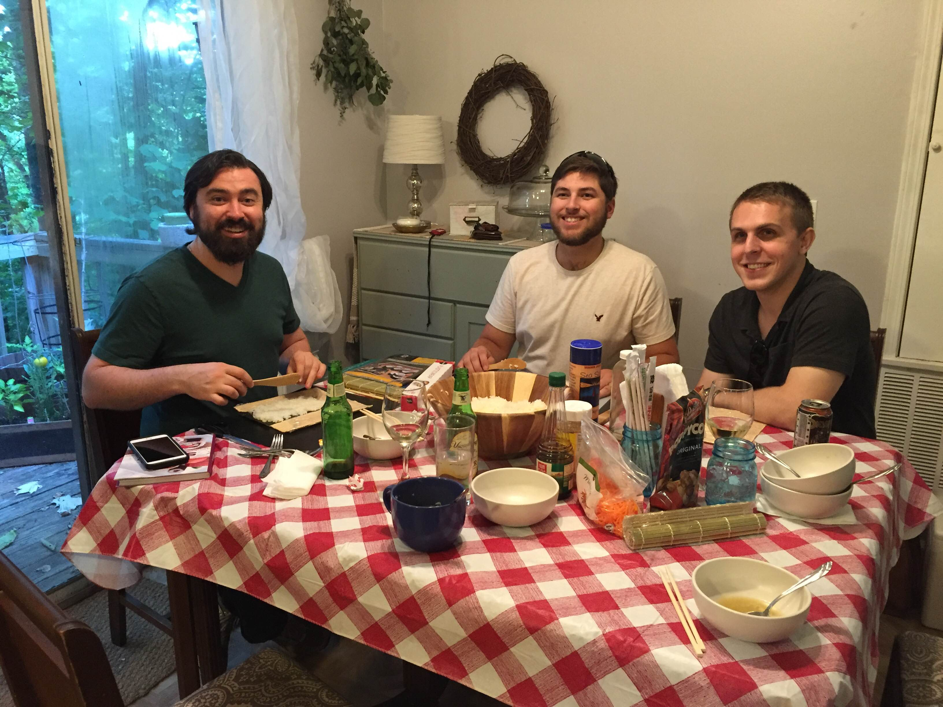 We started out the summer with a sushi night with our small group. We might juts be expert sushi chefs now. :)