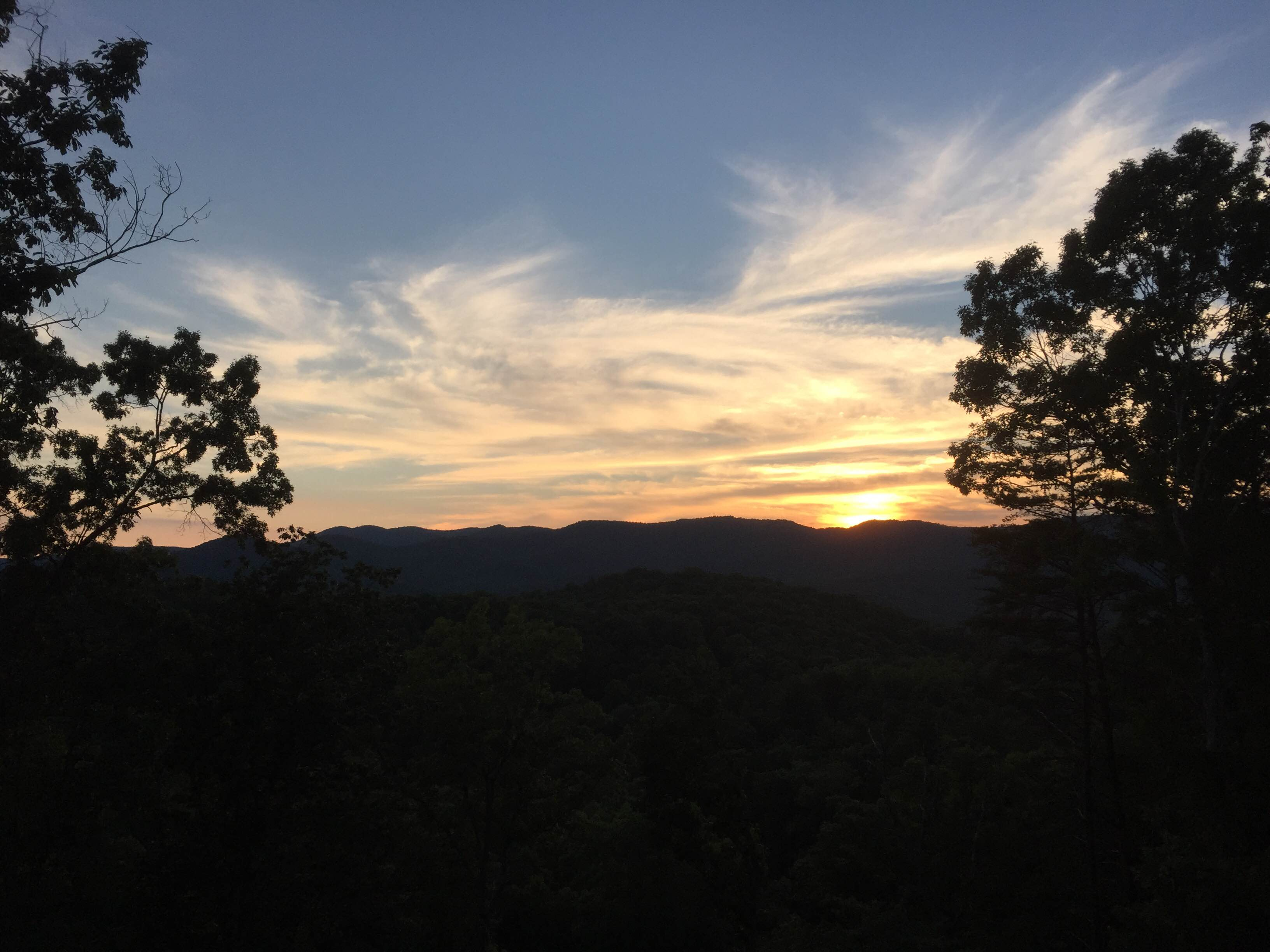 Blue Ridge let us see a couple of really beautiful sunsets and we had some family time!