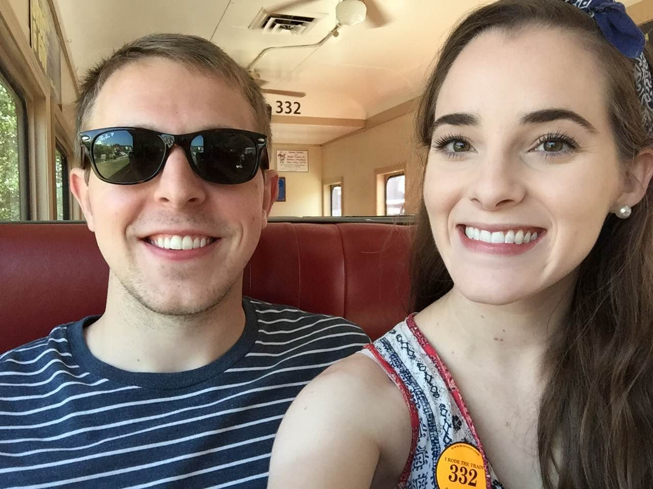 For the 4th of July, we took a train ride from Blue Ridge to Tennessee!
