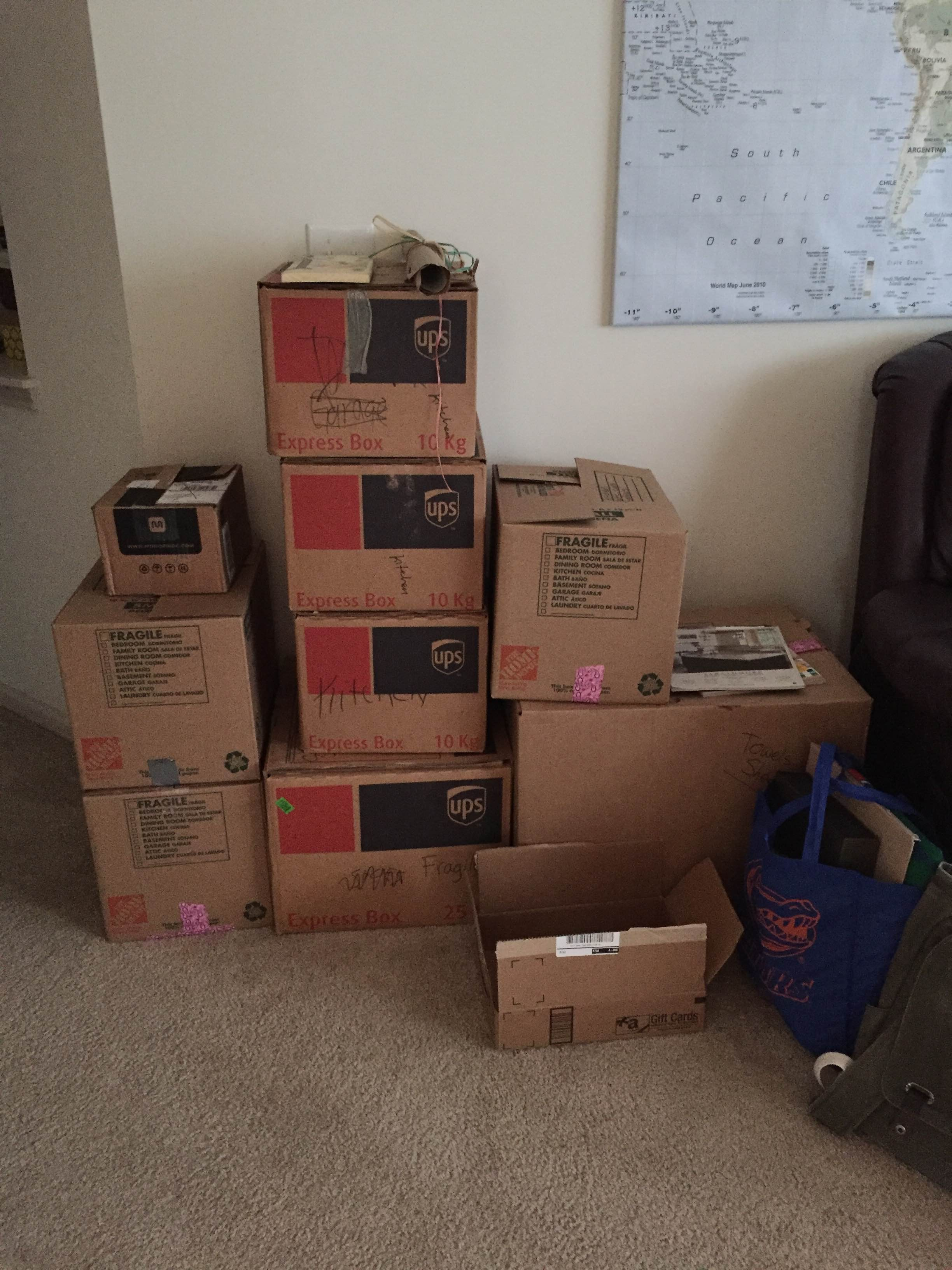 Our life was pretty much in boxes for over a month...