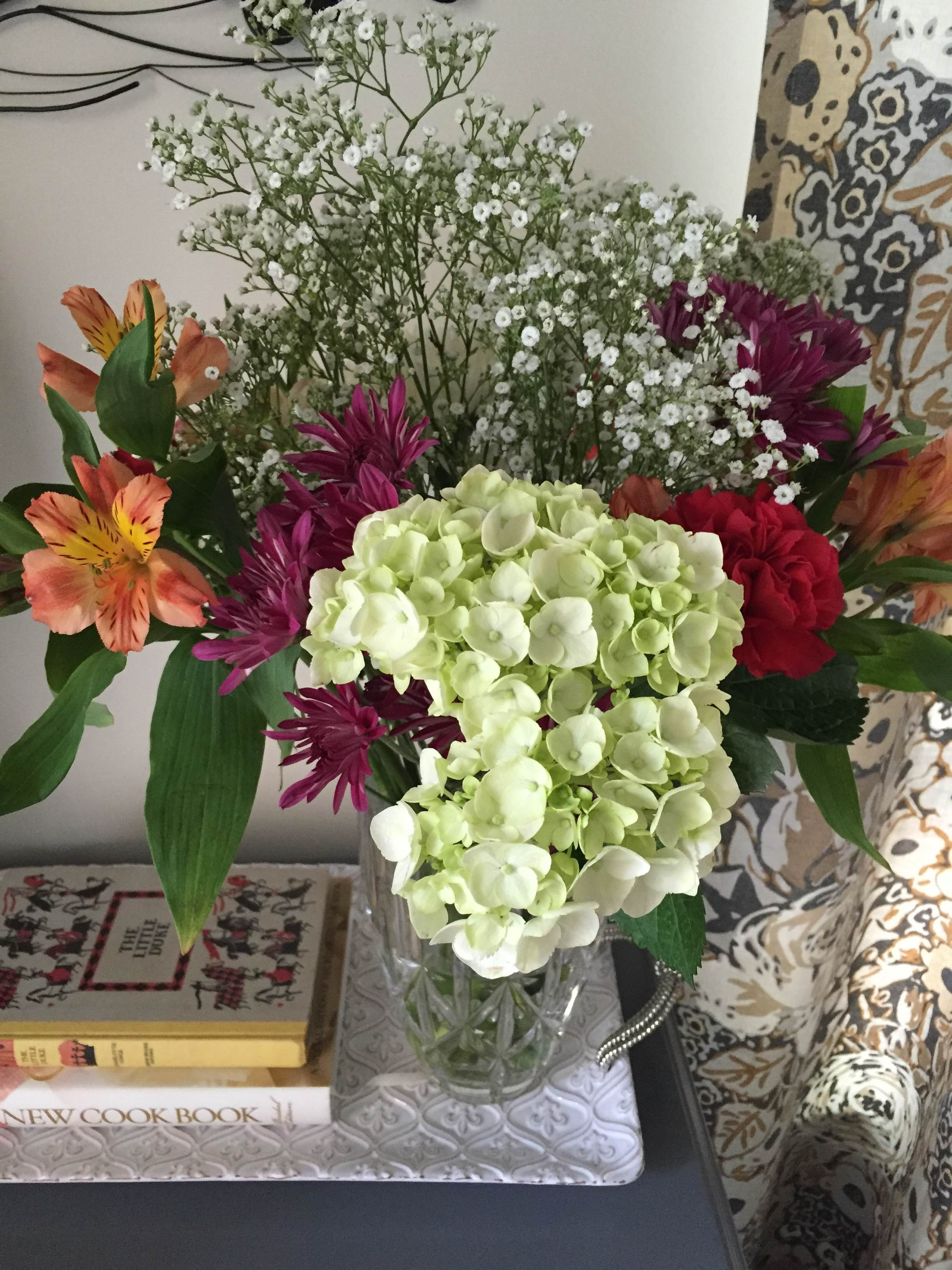 About halfway through the summer, Matt knew I needed some cheering up and flowers are always a win. :)