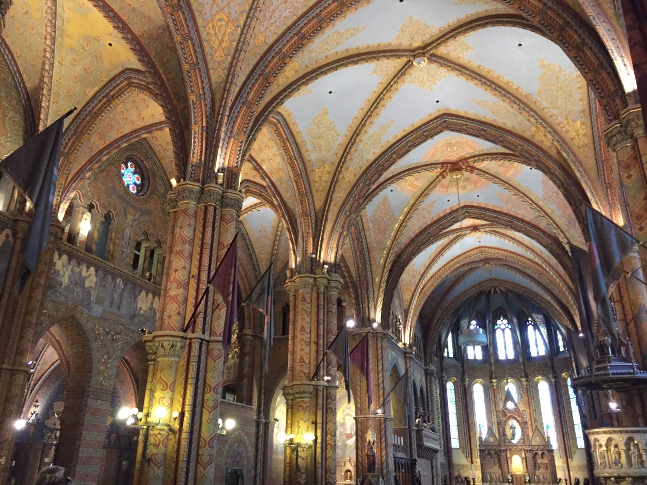 The inside of Matthias Church. Probably one of the prettiest churches I've seen so far.