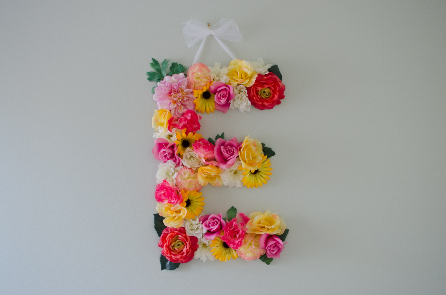 See this DIY floral letter post here!